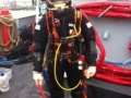 hot water suited diver